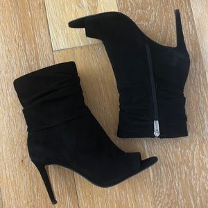 Vince Camuto Open Toe Suede Ankle Bootie 8.5 NIB